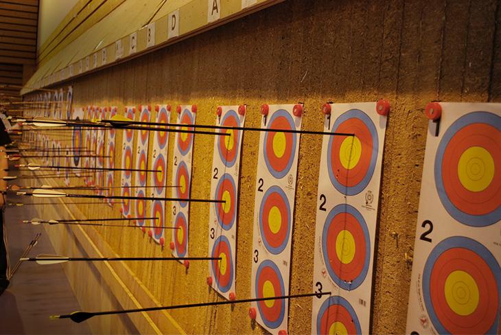 Cibles et flèches 2x18m trispot
